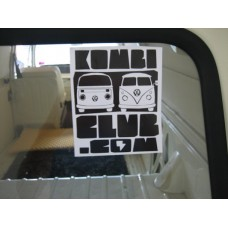 The Kombi Club sticker Black/white